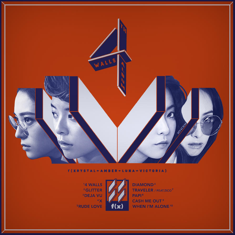 F(X) - The 4th Album - 4 Walls by DiYeah9Tee4 on DeviantArt F(x) Electric Shock Album Cover