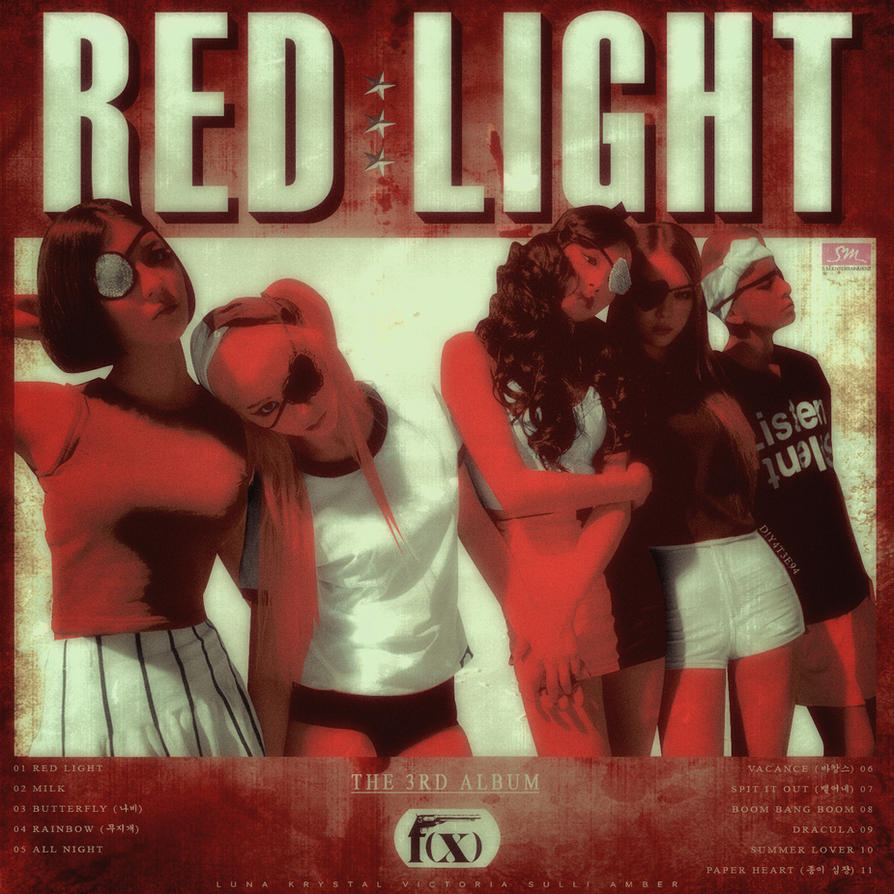 F(x) - The 3rd Album : Red Light by DiYeah9Tee4 on DeviantArt