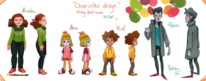 Character design of my short animation