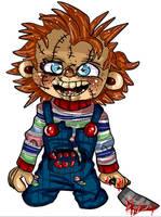 Hi I'm Chucky, wanna play? by The-Invader-Trixie