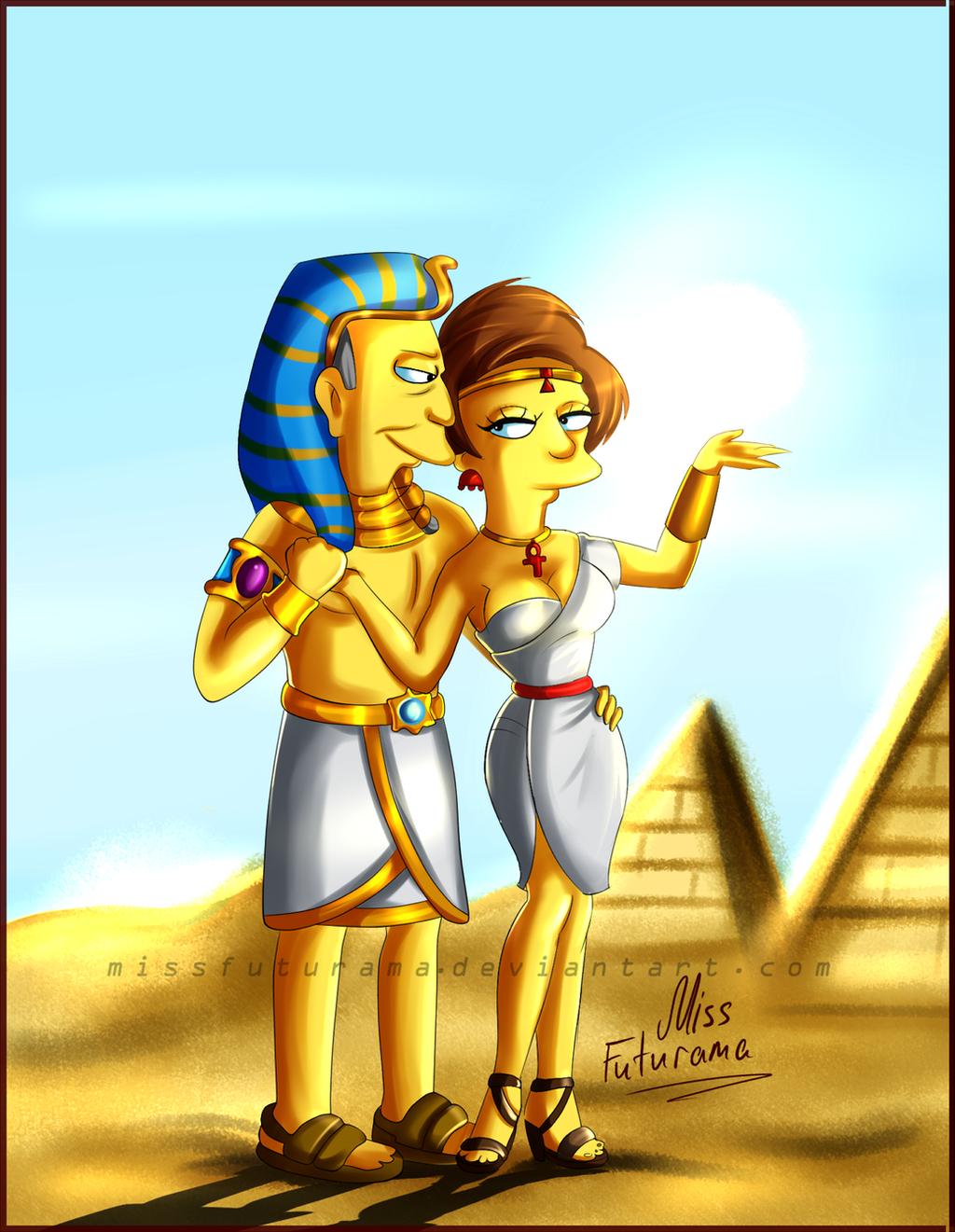 Skinner and Edna - Like the Gods by MissFuturama