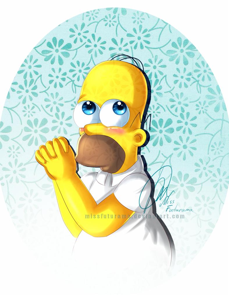 Kawai Homer by MissFuturama