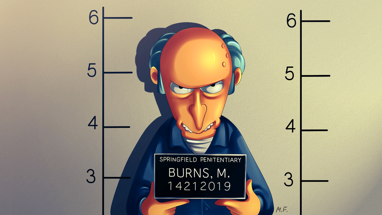 Springfield Penitentiary - Burns, M. by MissFuturama