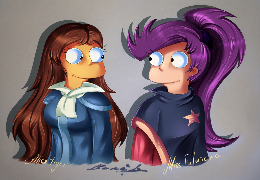 Colab: Alice Burns and Alice Fry by MissFuturama