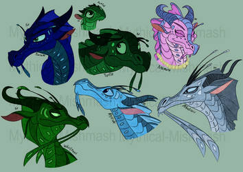 SeaWing Doodles by Mythical-Mishmash