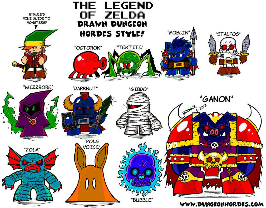 Zelda Monsters Painted by Dungeonhordes
