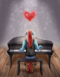 Undertale - She's Playing Piano by marcinehlsen
