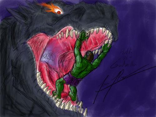 Hulk Vs Godzilla by GhidorahMan