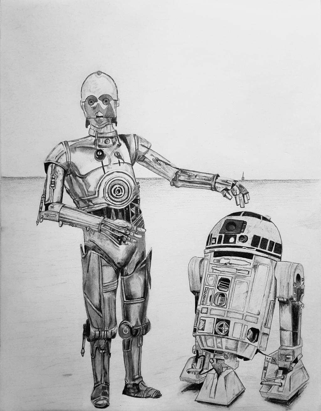 C-3PO R2-D2 by Shane-Derek on DeviantArtR2d2 And C3po Drawing