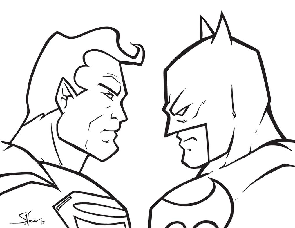 Superman v Batman sketch by Shane-Derek on DeviantArt