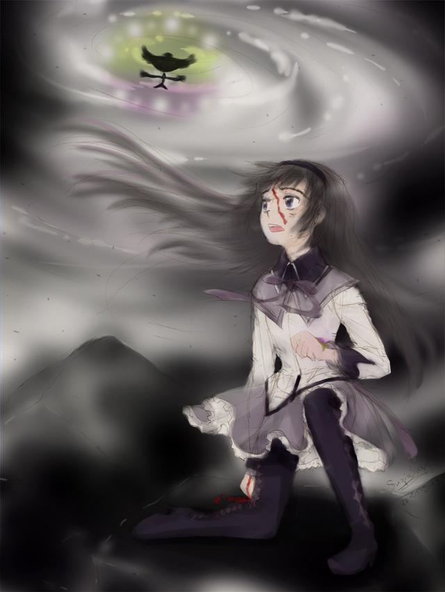 Homura Akemi at Walpurgis Night