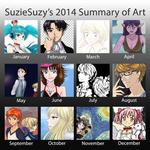 SuzieSuzy's 2014 Summary of Art