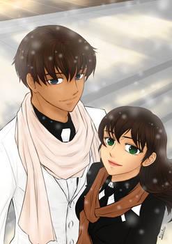 Franck et Eline en hiver