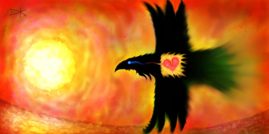 Flying Raven ...  2016_nov22a by dk-art
