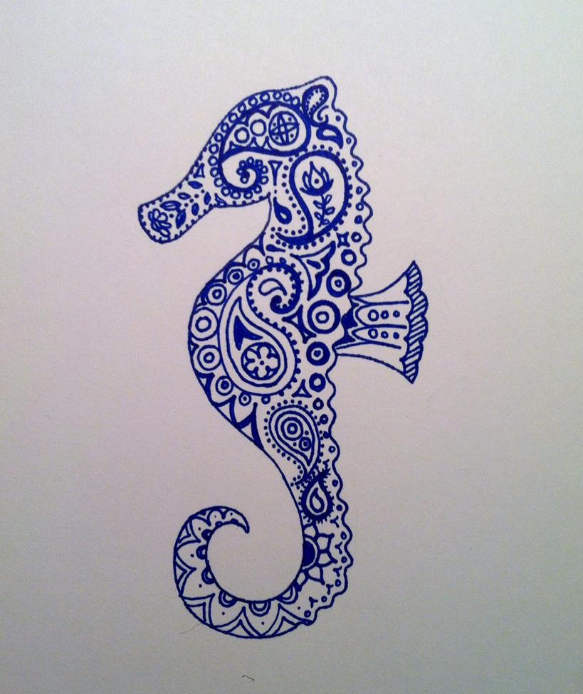paisley seahorse by iluvsparkles