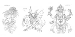 Mythical monsters preparatory sketches #13