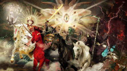 Photomanipulation - The Riders of the Apocalypse by DoctorChevlong