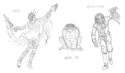 Mythical monsters preparatory sketches #20 by DoctorChevlong