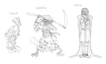 Mythical monsters preparatory sketches #21 by DoctorChevlong