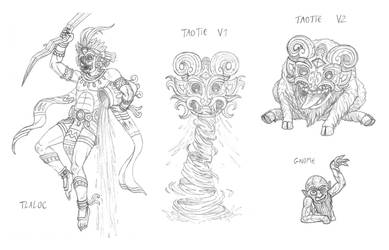 Mythical monsters preparatory sketches #23 by DoctorChevlong