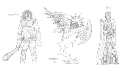 Mythical monsters preparatory sketches #24 by DoctorChevlong