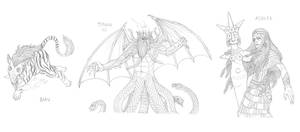 Mythical monsters preparatory sketches #28