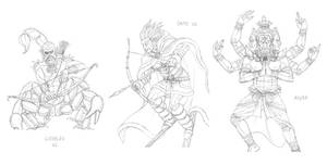 Mythical monsters preparatory sketches #35