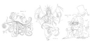 Mythical monsters preparatory sketches #39