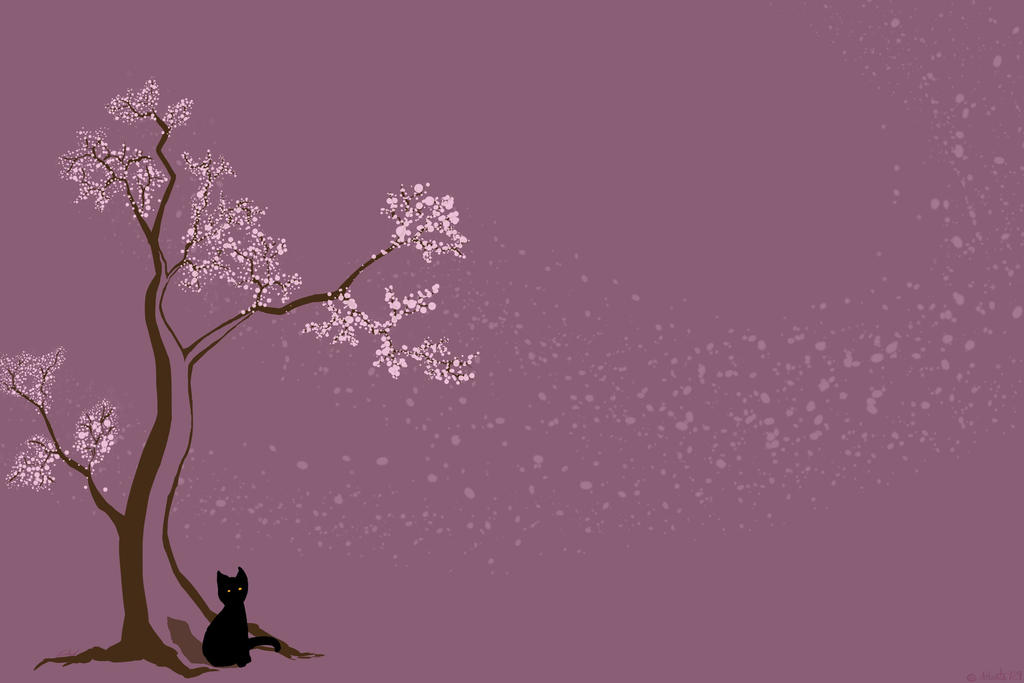 Cherry tree Cat by Atlanta929