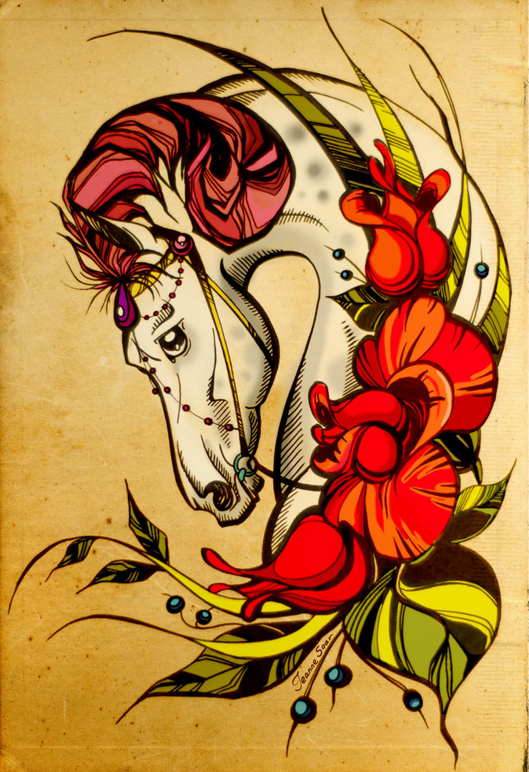 tattoo sketch by Jeanne-Saar