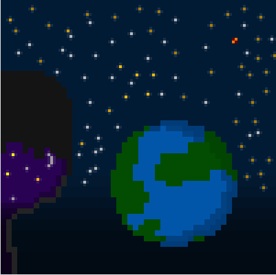 Take a Look at the Universe [Pixel Art]