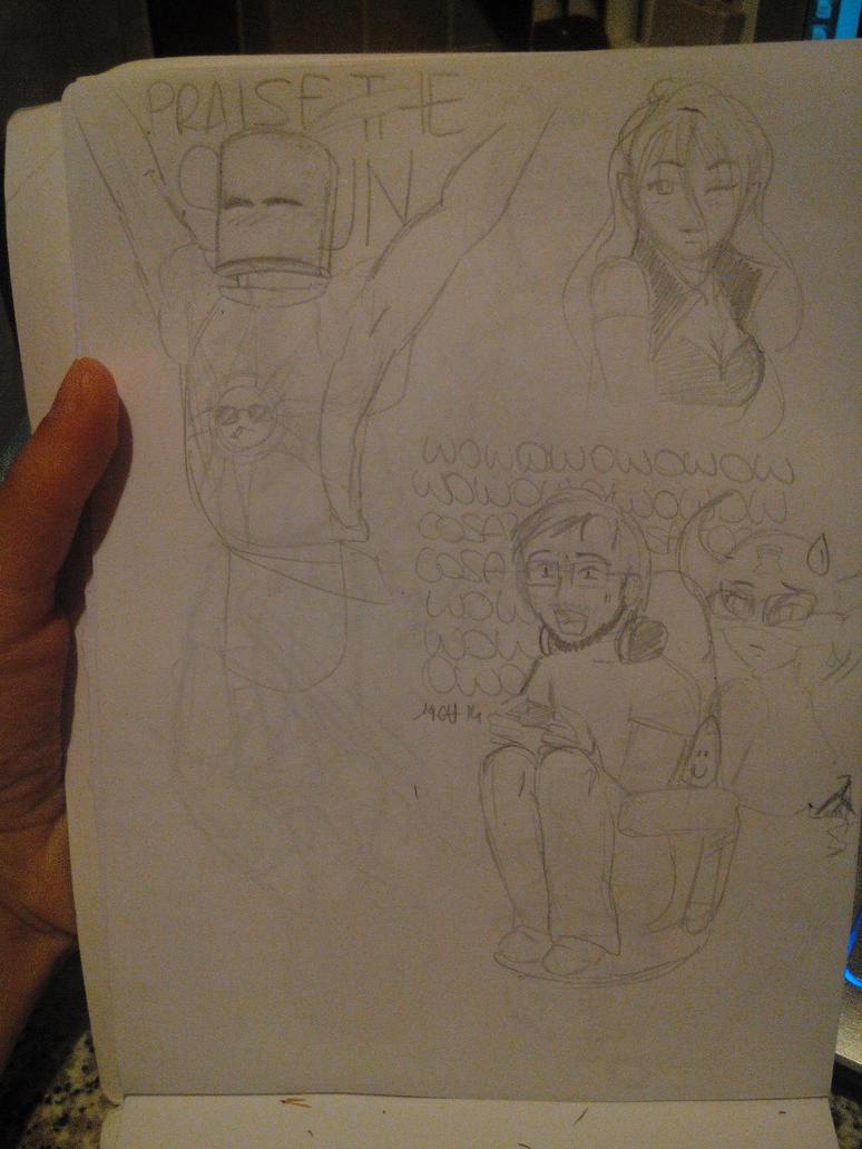 Random sketches by NaokoYamashita