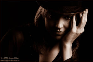 with a hat by HolyAnna