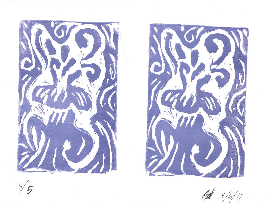 Hallucinogenic Flowers (Printmaking) by AxelDK64