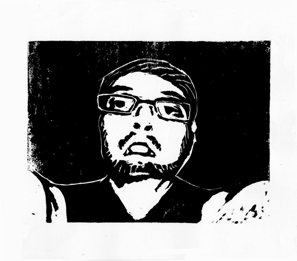 Ink Machined Me (Printmaking) by AxelDK64