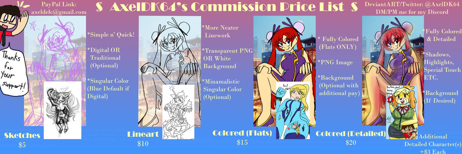 Commission Price List (CLOSED) by AxelDK64