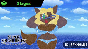 Wolfie in Bikini - SSBU Custom Stage