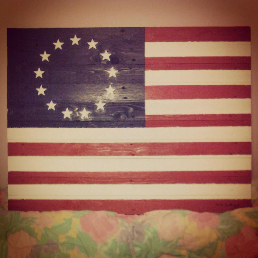 betsy Ross flag by doggie-dew