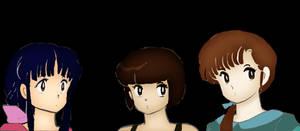 Ranma 1/2 Tendo Sisters: Akane, Nabiki, and Kasumi