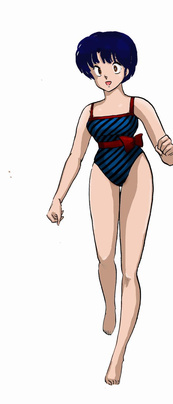 Akane Tendo _ swim suit by soulfire524 on DeviantArt