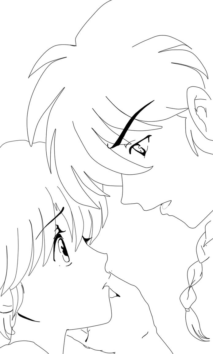 ranma 1 2 coloring pages | ranma and akane by soulfire524 on DeviantArt