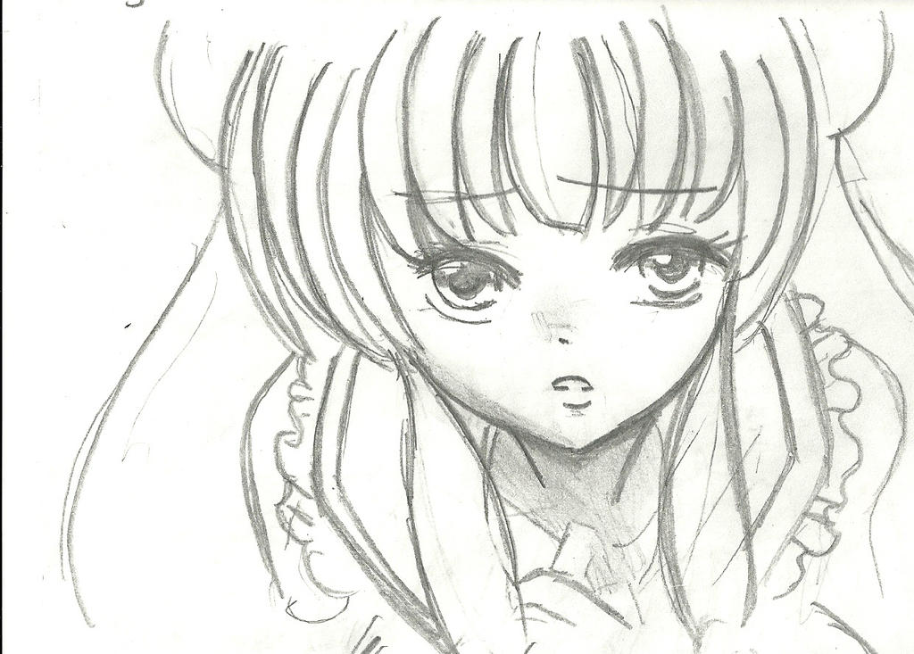 Ranma 1 2 pencil drawing of shampoo by soulfire524