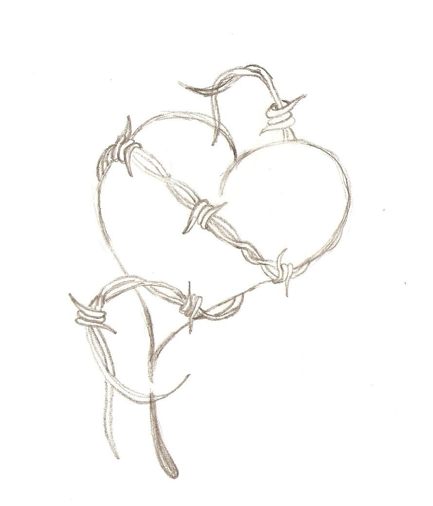 barbed wire heart by kLoaNe on DeviantArt