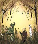 Spider Ninjas, forest meeting