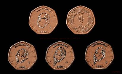 Garwara (CM) half Penci coins by LavenderBlade