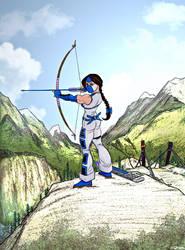 Valerie Fox- taking aim by LavenderBlade