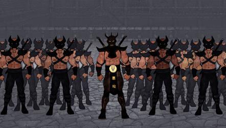 Tsujenko with Sanobe Demon Enforcers by LavenderBlade