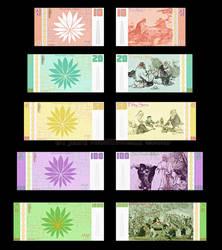 Oeppu Sera banknotes by LavenderBlade
