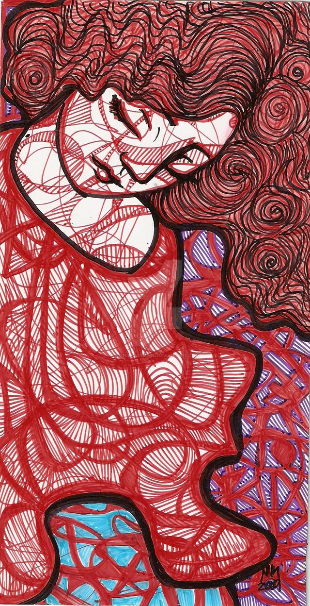 Lady in red by NoeliaNavarro