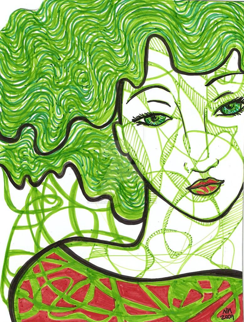 lady in green by NoeliaNavarro